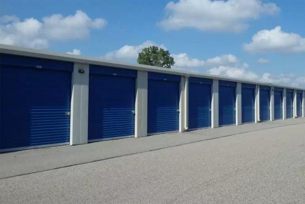 lakeside storage units blue sky